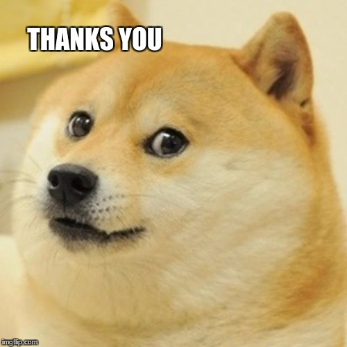Doge Meme | THANKS YOU | image tagged in memes,doge | made w/ Imgflip meme maker