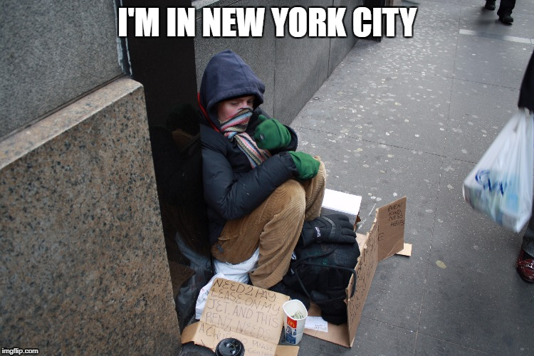 I'M IN NEW YORK CITY | made w/ Imgflip meme maker