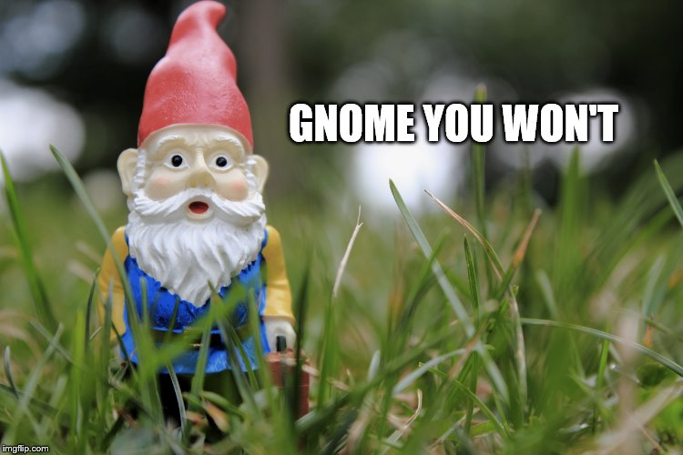 GNOME YOU WON'T | made w/ Imgflip meme maker