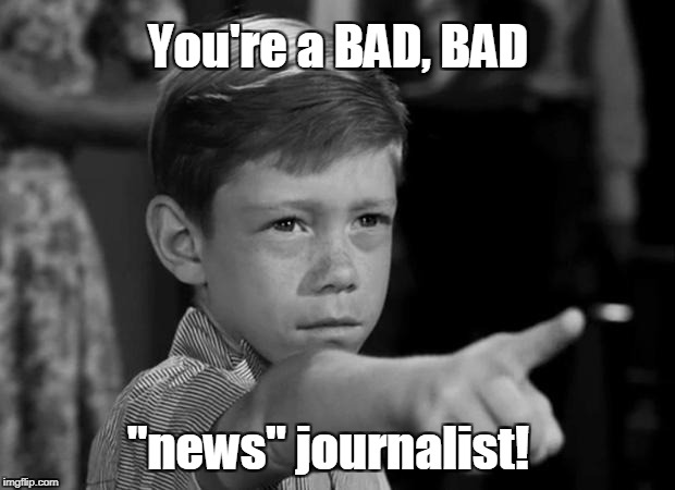 "You're a BAD ""news"" journalist 