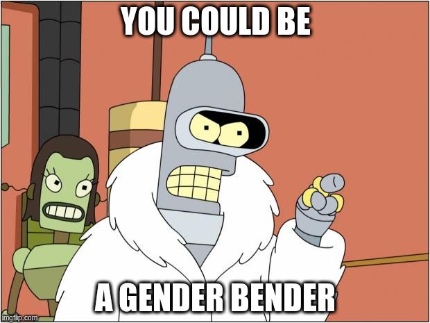 YOU COULD BE A GENDER BENDER | made w/ Imgflip meme maker