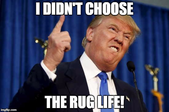 I DIDN'T CHOOSE THE RUG LIFE! | made w/ Imgflip meme maker