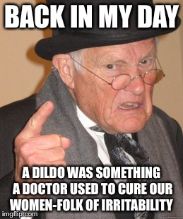 Back In My Day Meme | BACK IN MY DAY A D**DO WAS SOMETHING A DOCTOR USED TO CURE OUR WOMEN-FOLK OF IRRITABILITY | image tagged in memes,back in my day | made w/ Imgflip meme maker