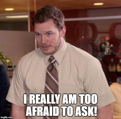 I REALLY AM TOO AFRAID TO ASK! | made w/ Imgflip meme maker