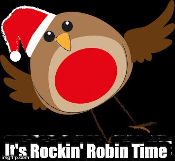 robin its rockin robin time image tagged in robindancechristmas
