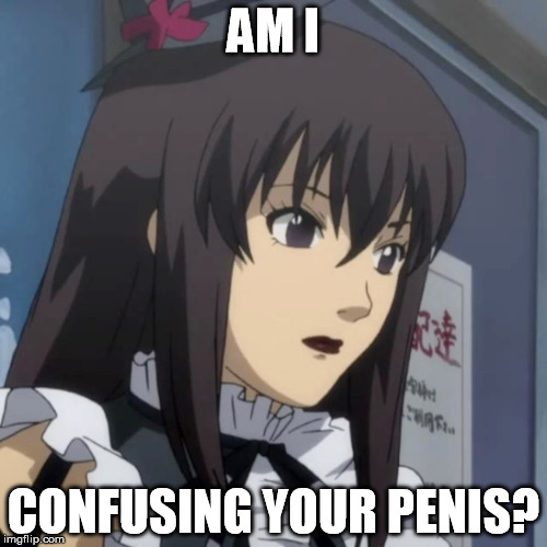 AM I CONFUSING YOUR P**IS? | image tagged in moyashimon,kei yuuki,trap,yaoi,confused | made w/ Imgflip meme maker