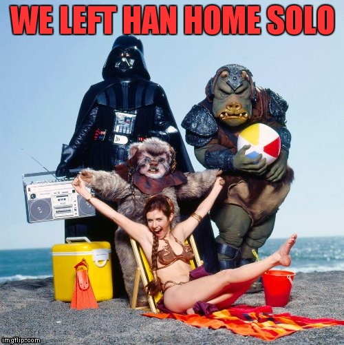 WE LEFT HAN HOME SOLO | made w/ Imgflip meme maker