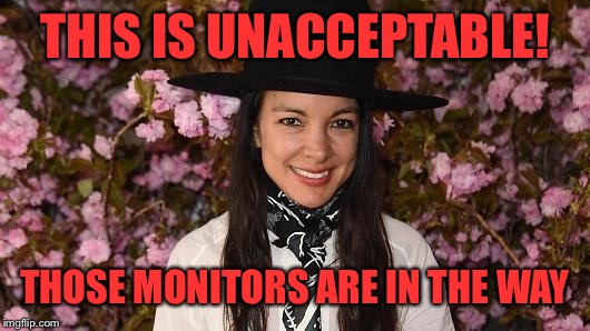 THIS IS UNACCEPTABLE! THOSE MONITORS ARE IN THE WAY | made w/ Imgflip meme maker