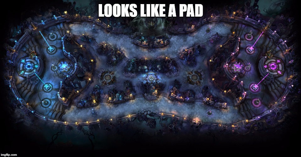 LOOKS LIKE A PAD | image tagged in pad,twisted,treeline,leagueoflegends | made w/ Imgflip meme maker