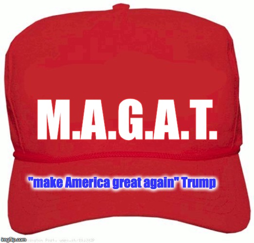 "M.A.G.A.T. ""make America great again"" Trump 