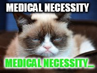 MEDICAL NECESSITY MEDICAL NECESSITY... | made w/ Imgflip meme maker