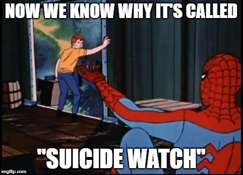 "Spiderman Suicide Kid | NOW WE KNOW WHY IT'S CALLED ""SUICIDE WATCH"" 