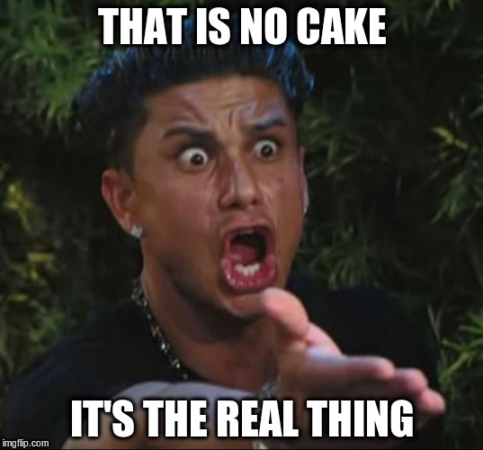 THAT IS NO CAKE IT'S THE REAL THING | made w/ Imgflip meme maker
