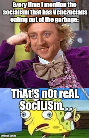 """Democratic"" socialists favorite argument... 