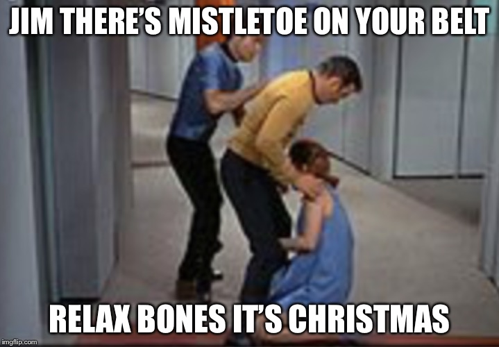 Job promotion | JIM THERE'S MISTLETOE ON YOUR BELT RELAX BONES IT'S CHRISTMAS | image tagged in job promotion | made w/ Imgflip meme maker