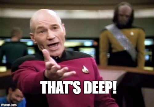 Picard Wtf Meme | THAT'S DEEP! | image tagged in memes,picard wtf | made w/ Imgflip meme maker