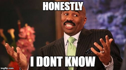 Steve Harvey Meme | HONESTLY I DONT KNOW | image tagged in memes,steve harvey | made w/ Imgflip meme maker
