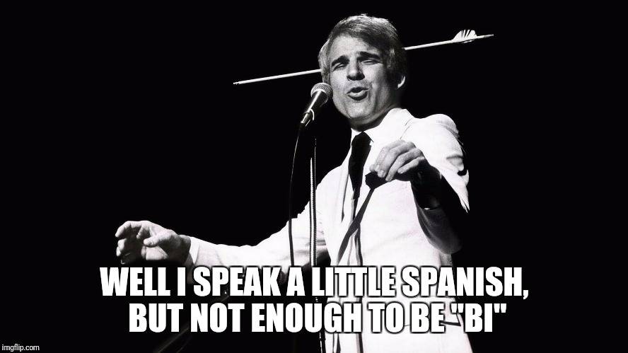 "WELL I SPEAK A LITTLE SPANISH, BUT NOT ENOUGH TO BE ""BI"" 