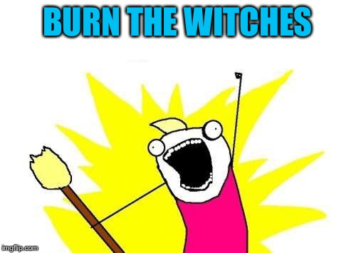 X All The Y Meme | BURN THE WITCHES | image tagged in memes,x all the y | made w/ Imgflip meme maker