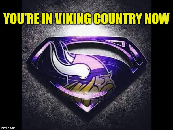 Minnesota Vikings You're In Viking Country Now | YOU'RE IN VIKING COUNTRY NOW | image tagged in memes,nfl memes,minnesota vikings,nfl,skol,go vikes | made w/ Imgflip meme maker