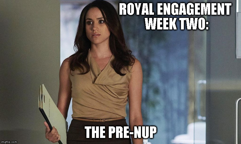 ROYAL ENGAGEMENT WEEK TWO: THE PRE-NUP | image tagged in wwwgreatspeechwritingcom | made w/ Imgflip meme maker