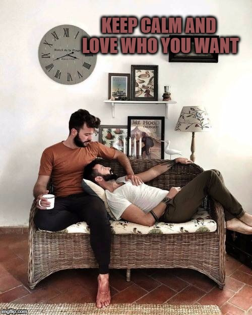KEEP CALM AND LOVE WHO YOU WANT | image tagged in lgbt | made w/ Imgflip meme maker