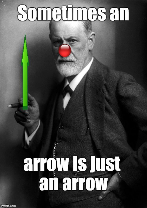 Sometimes an arrow is just an arrow | made w/ Imgflip meme maker