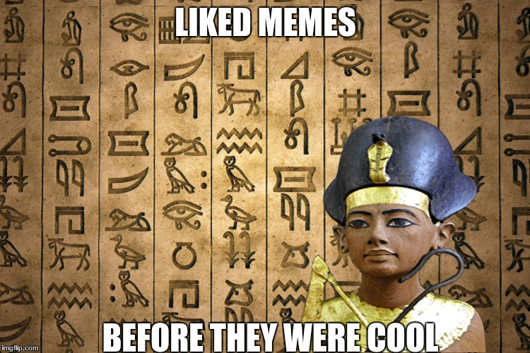 Hieroglyphics are ancient memes.  | LIKED MEMES BEFORE THEY WERE COOL | image tagged in egypt,true | made w/ Imgflip meme maker