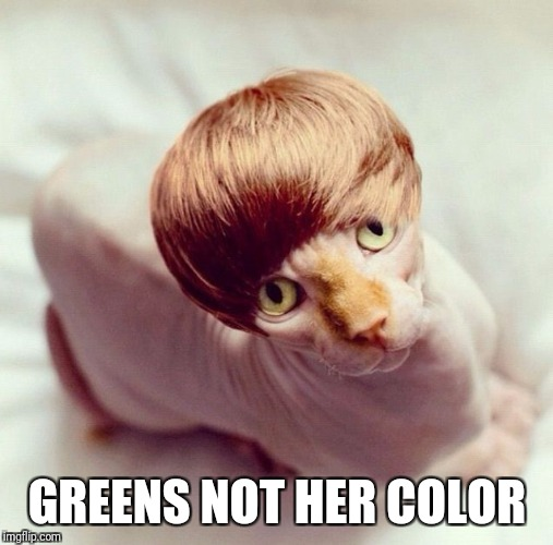 GREENS NOT HER COLOR | made w/ Imgflip meme maker