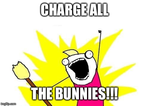 X All The Y Meme | CHARGE ALL THE BUNNIES!!! | image tagged in memes,x all the y | made w/ Imgflip meme maker
