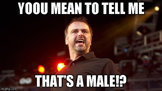 YOOU MEAN TO TELL ME THAT'S A MALE!? | made w/ Imgflip meme maker