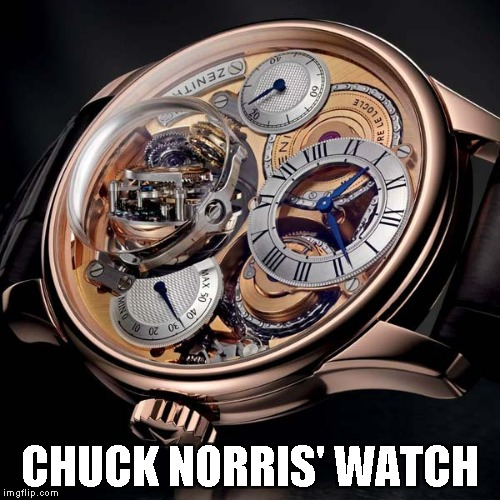CHUCK NORRIS' WATCH | made w/ Imgflip meme maker