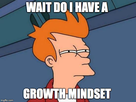 Futurama Fry Meme | WAIT DO I HAVE A GROWTH MINDSET | image tagged in memes,futurama fry | made w/ Imgflip meme maker