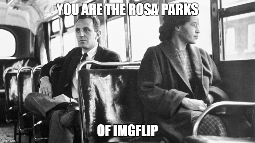 just sit down on downvotes | YOU ARE THE ROSA PARKS OF IMGFLIP | image tagged in downvote,downvote fairy,down with downvotes weekend | made w/ Imgflip meme maker