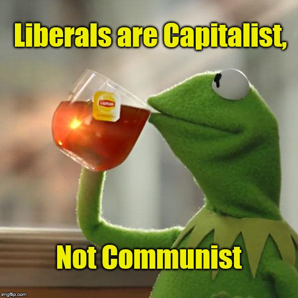 But Thats None Of My Business Meme | Liberals are Capitalist, Not Communist | image tagged in memes,but thats none of my business,kermit the frog | made w/ Imgflip meme maker