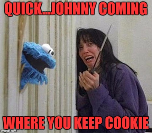 QUICK...JOHNNY COMING WHERE YOU KEEP COOKIE | made w/ Imgflip meme maker