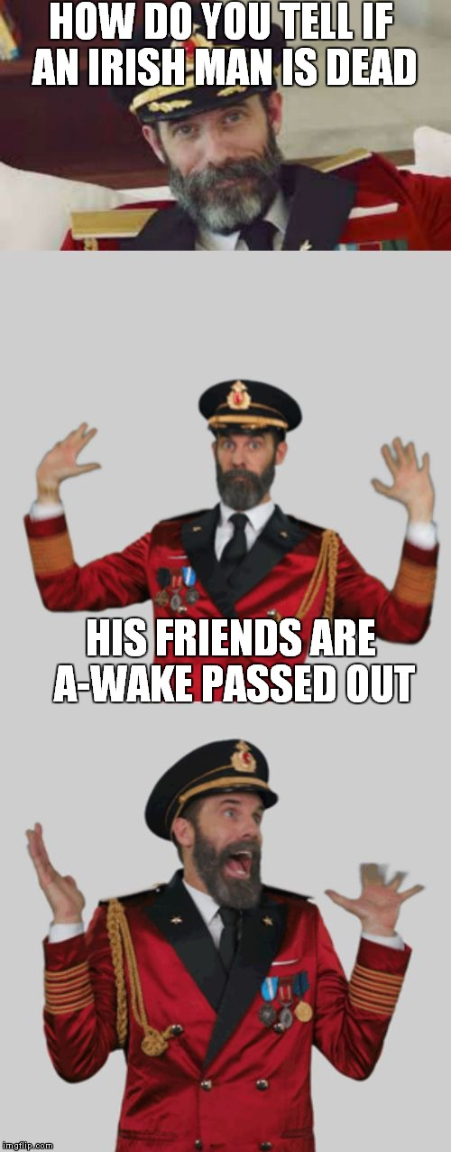 It's that obvious | HOW DO YOU TELL IF AN IRISH MAN IS DEAD HIS FRIENDS ARE A-WAKE PASSED OUT | image tagged in it's that obvious | made w/ Imgflip meme maker