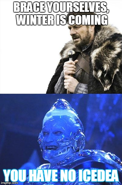 Winter is Coming | BRACE YOURSELVES, WINTER IS COMING YOU HAVE NO ICEDEA | image tagged in winter is coming | made w/ Imgflip meme maker