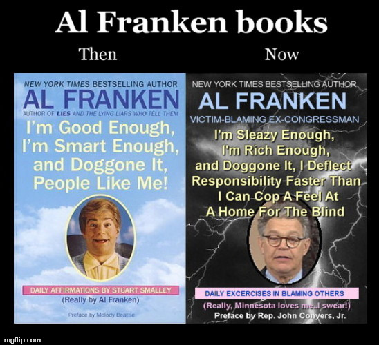 image tagged in al franken books | made w/ Imgflip meme maker