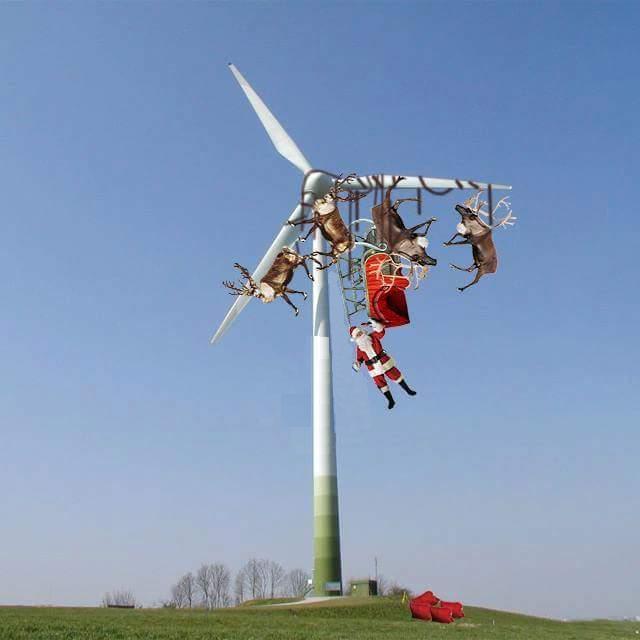 Santa Sleigh Reindeer Windmill Christmas Blank Template Imgflip