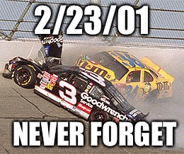Where were you on this winter afternoon? | 2/23/01 NEVER FORGET | image tagged in nascar,dale sr | made w/ Imgflip meme maker