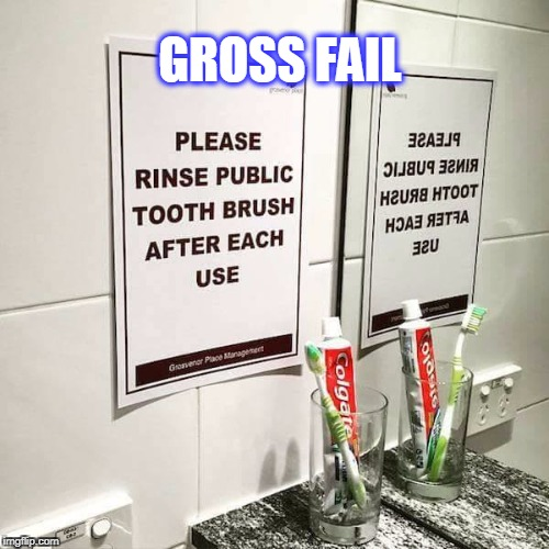 Gross | GROSS FAIL | image tagged in fail,epic fail | made w/ Imgflip meme maker