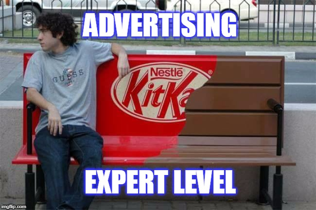 Cool Bench  | ADVERTISING EXPERT LEVEL | image tagged in cool bench,advertising,level expert | made w/ Imgflip meme maker