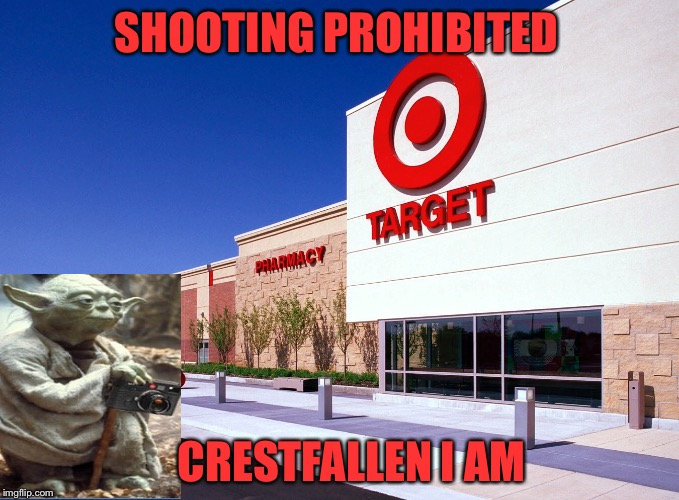 SHOOTING PROHIBITED CRESTFALLEN I AM | made w/ Imgflip meme maker