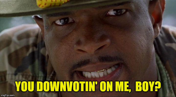 I guess I just had that downvote a comin' | YOU DOWNVOTIN' ON ME,  BOY? | image tagged in angry major payne,down with downvotes weekend,memes,downvote,downvote fairy,one does not simply | made w/ Imgflip meme maker