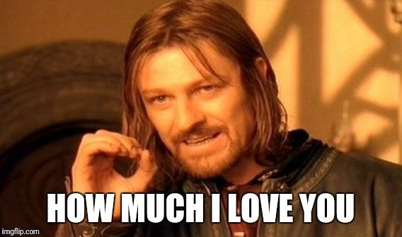 One Does Not Simply Meme | HOW MUCH I LOVE YOU | image tagged in memes,one does not simply | made w/ Imgflip meme maker