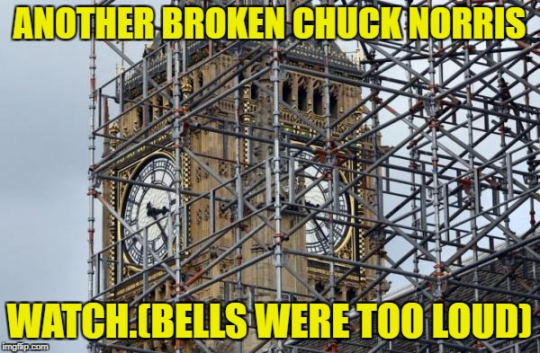 ANOTHER BROKEN CHUCK NORRIS WATCH.(BELLS WERE TOO LOUD) | made w/ Imgflip meme maker