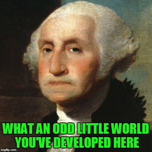 WHAT AN ODD LITTLE WORLD YOU'VE DEVELOPED HERE | made w/ Imgflip meme maker