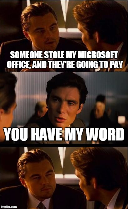 """Word""...Geddit? 