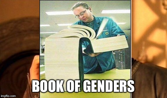 BOOK OF GENDERS | made w/ Imgflip meme maker